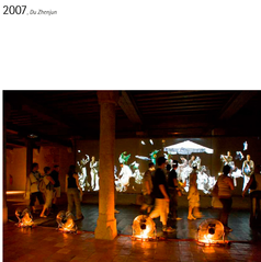 La salle des colonnes au fil des expositions