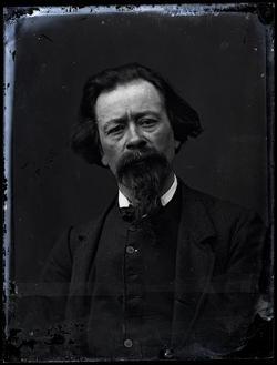 autoportrait, Paul Cabaud peintre et photographe annécien
