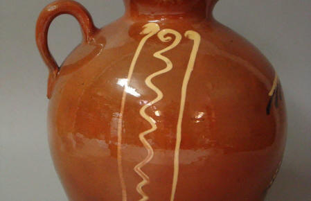 Vinaigrière, poterie à l'oiseau